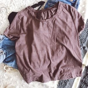 Tilly's Tops - ME TO WE Faux Suede Crop Top